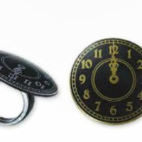 Clock Strikes Midnight Rings - Cupcake or Dessert Toppers, Party Favor, Decoration - Set of 12