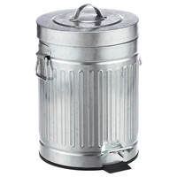 1.3 gal. New York Galvanized Step Can