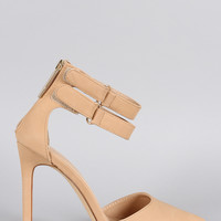 Liliana Pointy Toe Double Ankle Strap Stiletto Pump