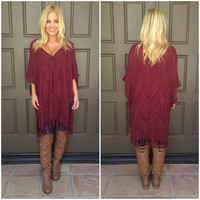 Gracyn Knit Cardigan - BURGUNDY