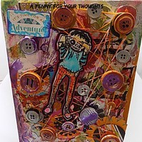 It's Time for an Adventure Mixed Media Canvas Board. Ready to Ship