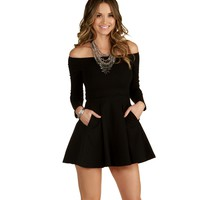 Sale- Black Love Story Skater Dress