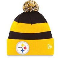 Pittsburgh Steelers New Era On Field Sport Knit Cuffed Pom Hat - Official Online Store