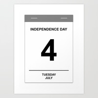 4th July Tuesday Art Print by Henrik Lehnerer