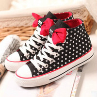 Lovely bowknot canvas flat shoes 3621AX