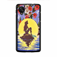 Ariel Little Mermaid Disney Flower Vintage Nexus 5 Case