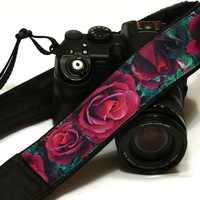 Roses Camera Strap. DSLR Camera Strap. Canon Camera Strap. Camera Accessories