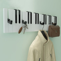 Piano hook / wall decorations / Hanger / music / coat rack 16 hooks 60cm Hook for Hanging cloth and Handbags