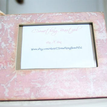 Shabby Chic 4X6 Picture Frame, Light Pink
