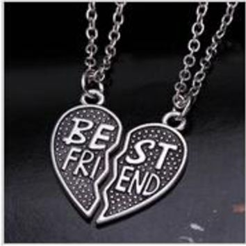 Fashion Friendship Broken Heart Pendants Necklaces
