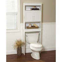 Bathroom Storage Over Toilet Space Saver Storage Cabinet Shelf Organizer White