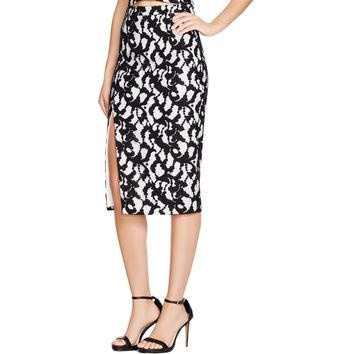 Bardot Womens Lace Midi Pencil Skirt