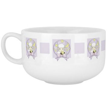 Cute animal soup bowls: Adorable little lamb, moon, and stars: Hold onto your dreams: Girl birthday or baby shower gift idea