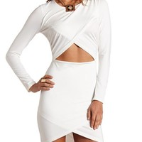 ASYMMETRICAL CUTOUT BODY-CON DRESS