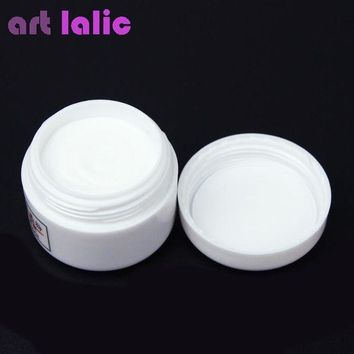 ac DCCKO2Q 1pcs Nail Polymer Acrylic Powder Crystal Nail Art Tips Builder CLEAR PINK WHITE See Through Color