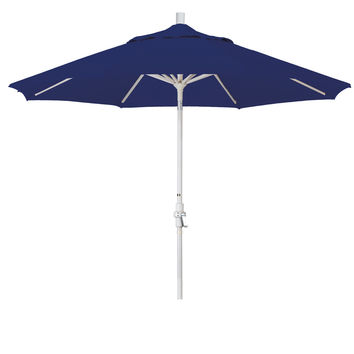 9 Foot Sunbrella 3A Fabric Aluminum Crank Lift Collar Tilt Patio Umbrella with Sand Pole