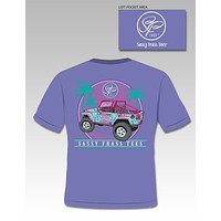Sassy Frass Collection Jeepin Palm Tree Jeep Vacation Comfort Colors Bright T Shirt