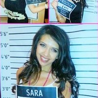 Mug Shot Bachelorette Backdrop - 9582