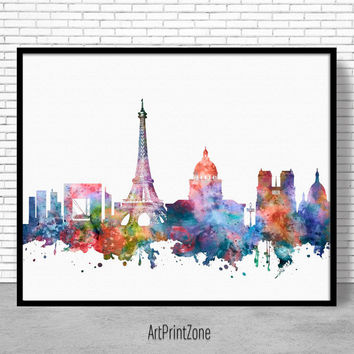 Paris Print, Paris Decor, Paris Skyline, Paris France, Paris Poster, Paris Art Print, Paris Wall Art, Office Poster, ArtPrintZone