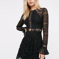 Free People Kiss And Tell Lace Mini