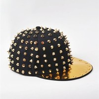 Spike It Snap Back Hat - Black