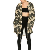 The Camo Coat - Outerwear - Womens
