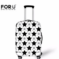 FORUDESIGNS Black Star Travel Luggage Protective Cover Made S/M/L Elastic Waterproof Trunk Case Cover For 18-30 Inch Suitcases