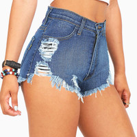 Total Wreck Denim Shorts