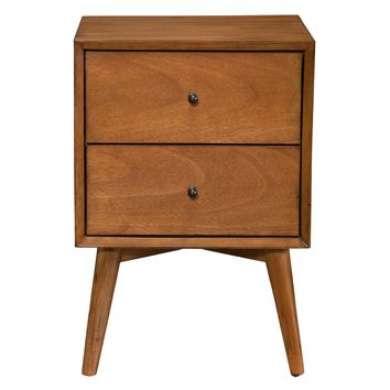 Alpine Furniture Flynn 2 Drawer Nightstand | Hayneedle