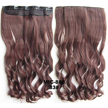 Bath & Beauty 5 Clip in synthetic hair extension hairpieces wavy slice curly hairpiece MIC-888 33#,Hair Care,fashion Cosplay ombre 1PC