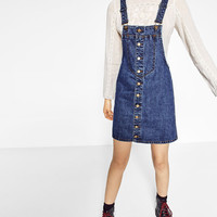 FRONT BUTTONED PINAFORE DRESS DETAILS