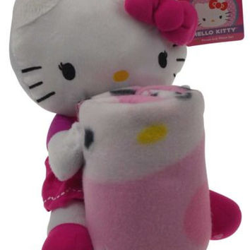 Hello Kitty Throw Pillow Set Hugger Plush Blanket Soft Cuddly Stuffed Animal NEW