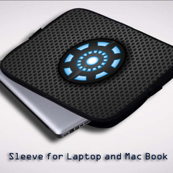 Iron Man Arc Reactor Sleeve for Laptop, Macbook Pro, Macbook Air (Twin Sides)