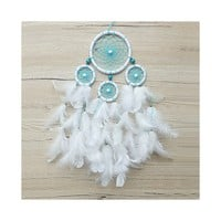 Dreamcatcher, White Dream Catcher, Boho Dreamcatcher, Turquoise Dreamcatcher, Boho Wall Hanging, Bohemian Decor, White Dreamcatcher, Baby • DreamCatcherLT's Shop