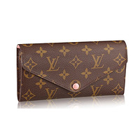 Louis Vuitton Monogram Canvas Portafoglio Josephine Wallet Rose Article:M41739