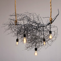 Horizontal Native Tumbleweed Chandelier