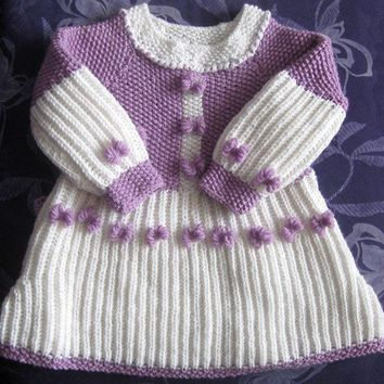 Toddler Wool Dress Smell of Lilac Bow Dress for 2 to by Solandia