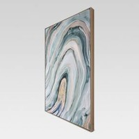 "Agate Framed High Gloss Canvas 36""x24"" - Project 62™"