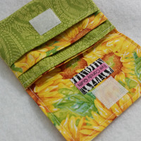 Sunflower Womens wallet, Credit Card Wallet, Change purse / Coin purse, Accessories for Women, Sunflower print wallets