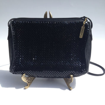 Vintage Whiting and Davis Black Purse