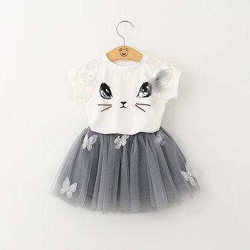 T-Shirt and Veil Dress for Kids