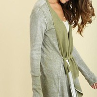 Casual Friday Cozy Olive Cardigan FINAL SALE!