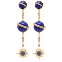 Taygeta Earrings With Electra Spherical Ear Chain | Moda Operandi