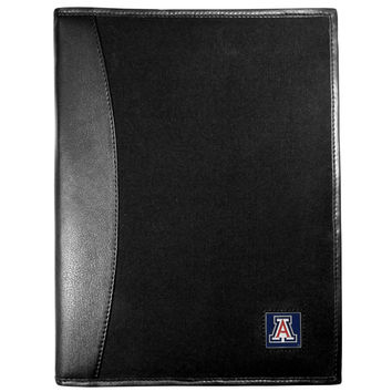 Arizona Wildcats Leather and Canvas Padfolio CPAD54