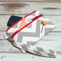 Chevron Wristlet - Zipper Clutch - Clutch - Wristlet - Small Zipper Bag - Cell Phone Wallet - Phone Wristlet - Wristlet Wallet
