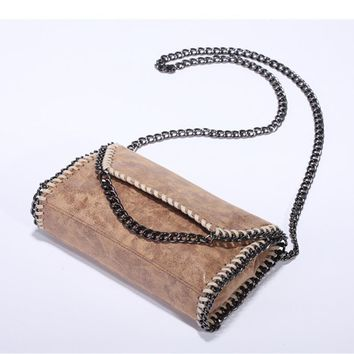 Luxury Brand Women 2 Chains Falabellas Bags Clutches Stella Shoulder Bags PVC Fold Over Purse Bolsos Christmas Gift