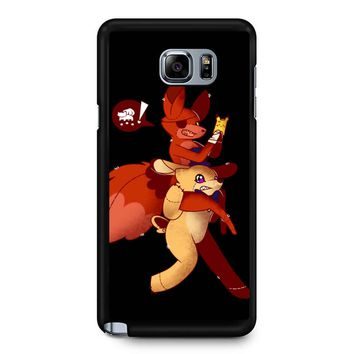 Five Night Freddys Playing Pokemon Go Samsung Galaxy Note 5 Case
