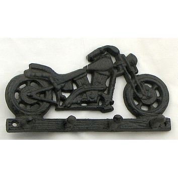 Cast Iron Motorcycle Key/ Hat/Coat Hook