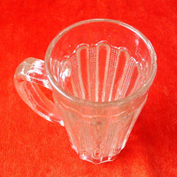 Glass Mug - Cup - Vintage - Beer Mug