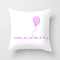 Sometimes Throw Pillow by  Alexia Miles photography